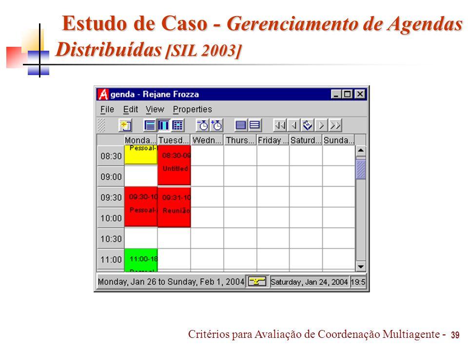 Estudo de Caso - Gerenciamento de Agendas Distribuídas [SIL 2003]